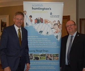 World renowned scientist in Falkirk for Huntington's disease update