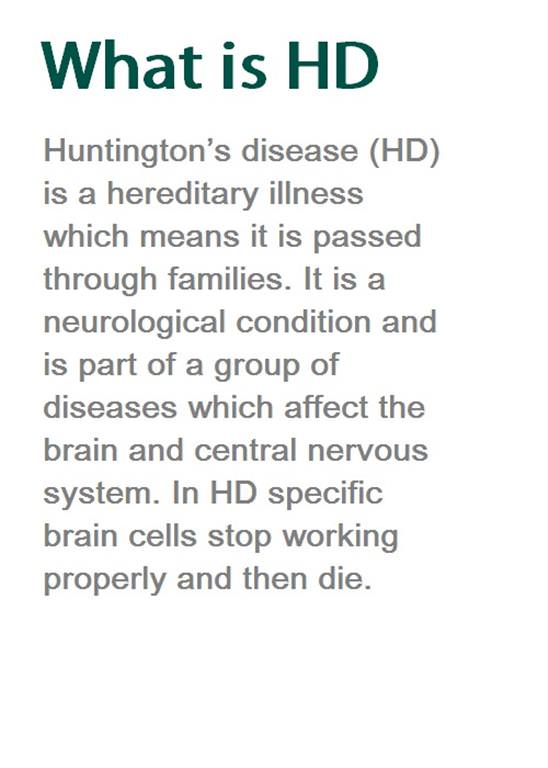 scottish huntingtons association home page what is HD