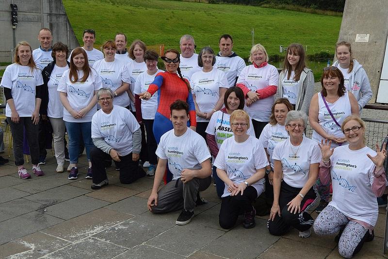 Scottish Huntington's Association Abseil Falkirk Wheel SHA Fundraising