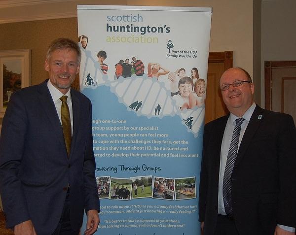 TEVA Dr Juha Savola ans John Eden scottish huntingtons association disease update