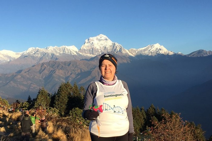 scottish huntingtons association sha Himalayan trek linda winters