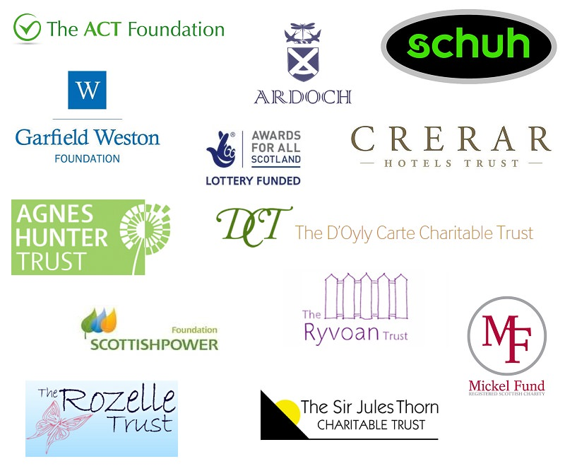 wall our supporters scottish huntingtons association sha charitable trusts