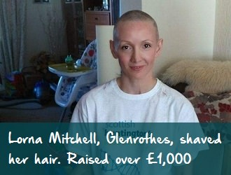 Lorna Mitchell after photo scottish huntingtons association our fundraisers sha