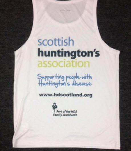 running back scottish huntingtons association SHA shop fundraising