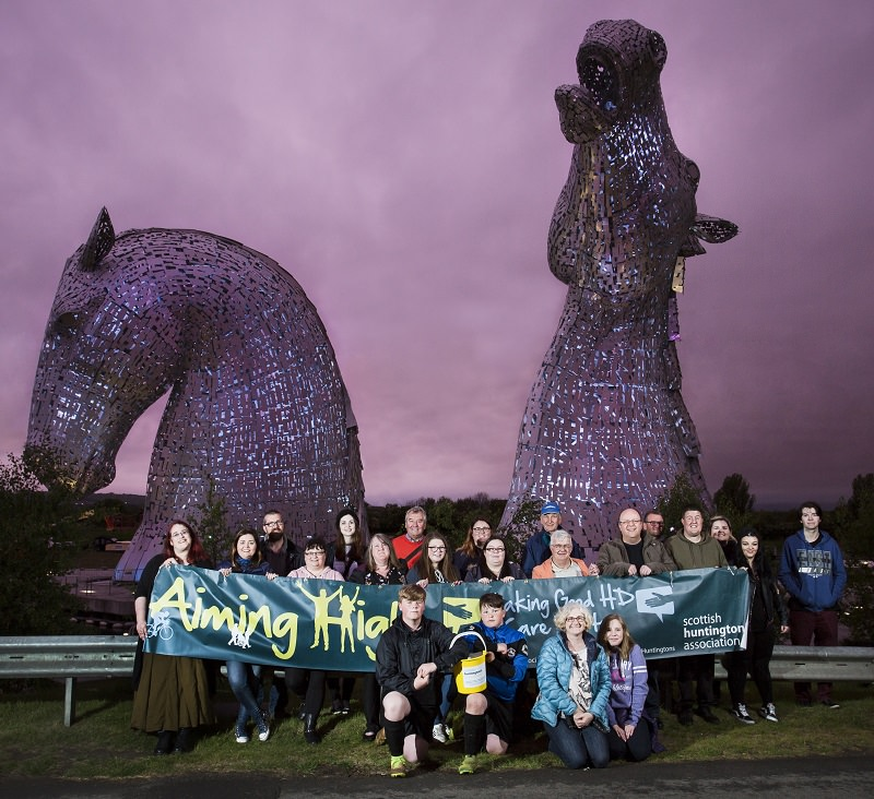 scottish huntingtons association kelpies awareness week light up for hd