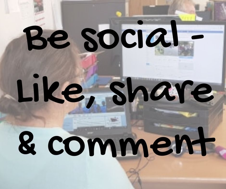 Be social - Like, share & comment